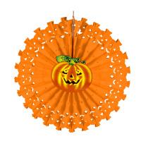 Decoratie pompoen voor halloween papier 50 cm