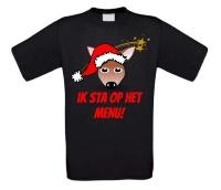 Hert ik sta op het menu T-shirt Kerst