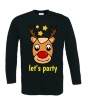 Kerst rendier lets party T-shirt lange mouw