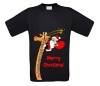 Merry christmas giraffe T-shirt