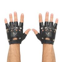 Vingerloze handschoenen met studs rocker of biker