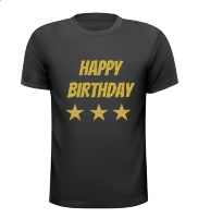 Happy birthday glitter T-shirt