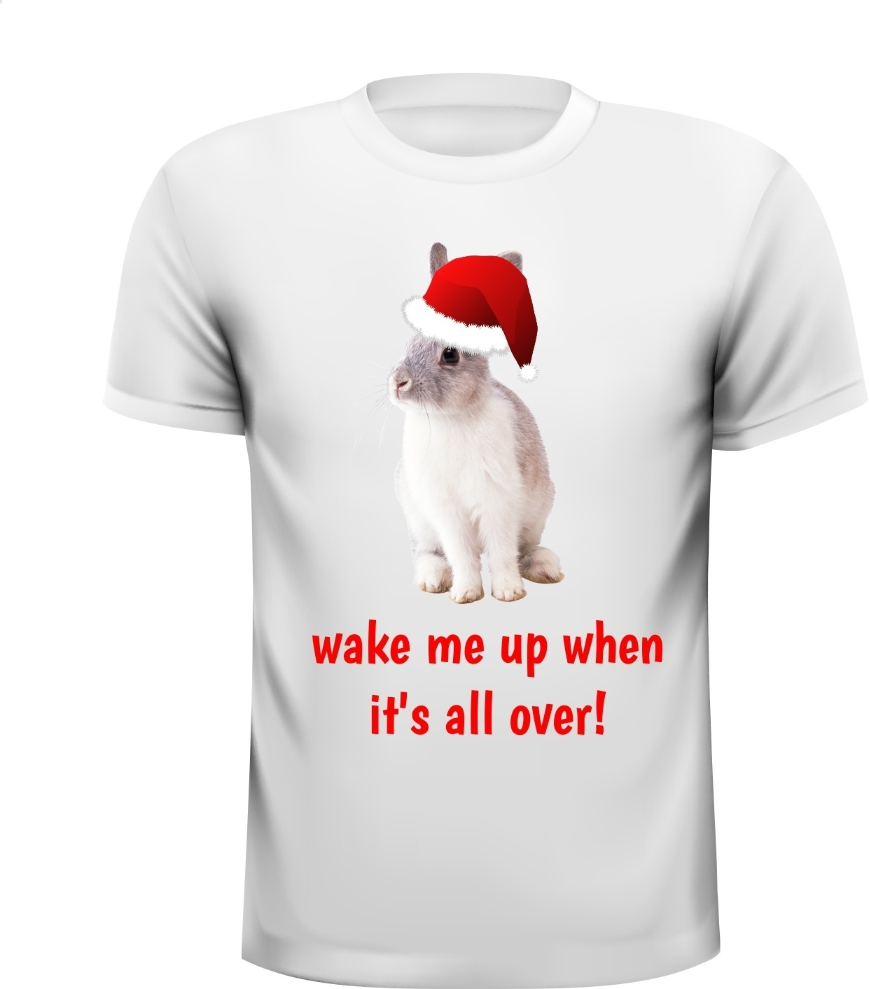 Konijnen  wake me up when  it's all over! T-shirt