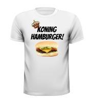 Koning hamburger T-shirt