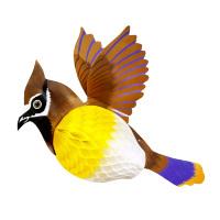 Papieren vogel honingraat decoratie 40 cm