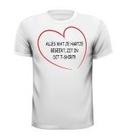 Alles wat je hartje begeert zit in dit t-shirt