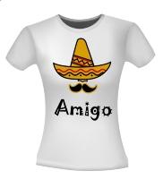 Amigo sombrero snor Mexicaans shirt