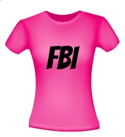Fbi dames shirt in het roze