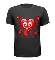 Grappig Emoji Emojicon Emojis Hart valentijn shirt
