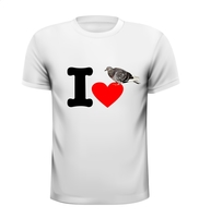 I love postduiven duif duiven houden van t-shirt truitje