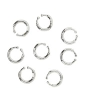 Piercings 8 stuks clip-on punker rocker