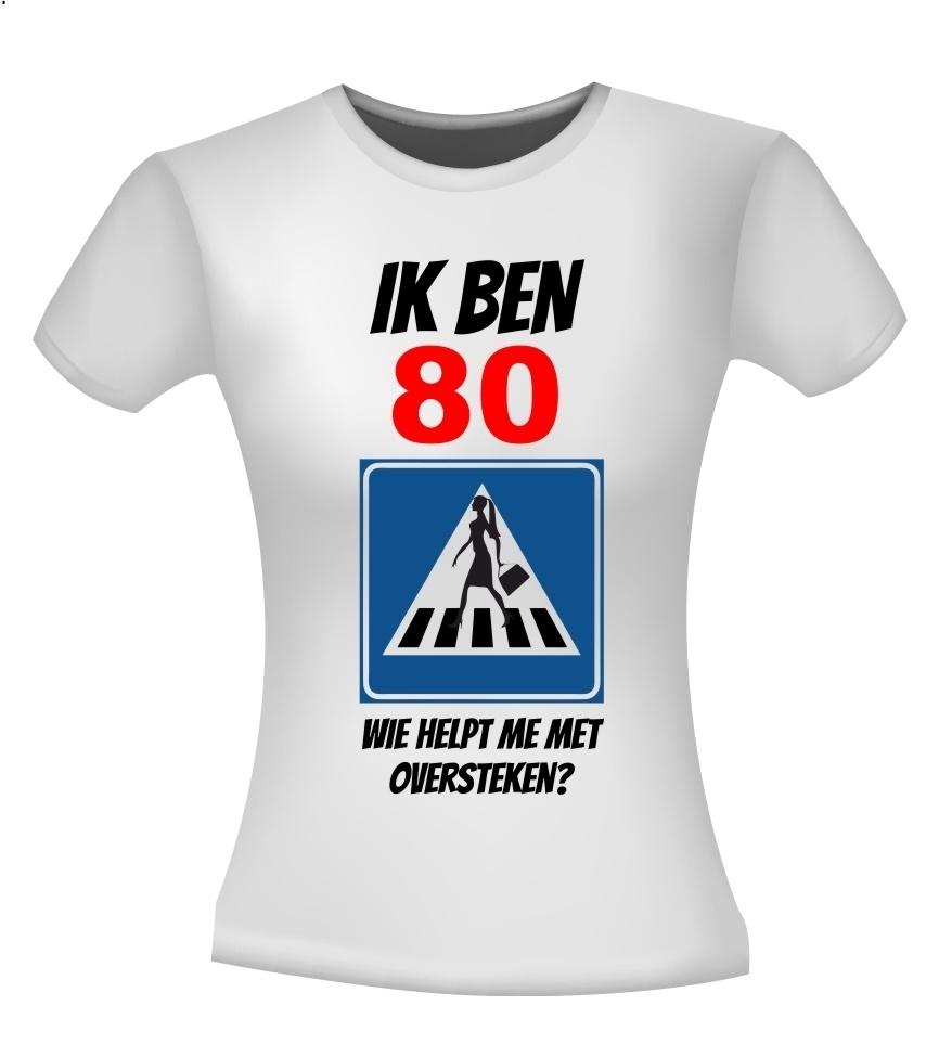 Ongekend 80 jaar verjaardag leeftijd shirt dame wie helpt me TM-54