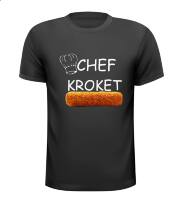 Chef kroket t-shirt snackbar patatzaak fastfood