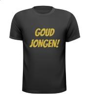 Goud jongen glitter goude opdruk T-shirt