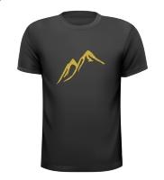 Gouden bergen T-shirt beloven glitter goud grappig