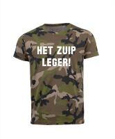 Het zuip leger grappig soldaten T-shirt voor groepen carnaval