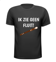 Ik zie geen fluit shirt Carnaval