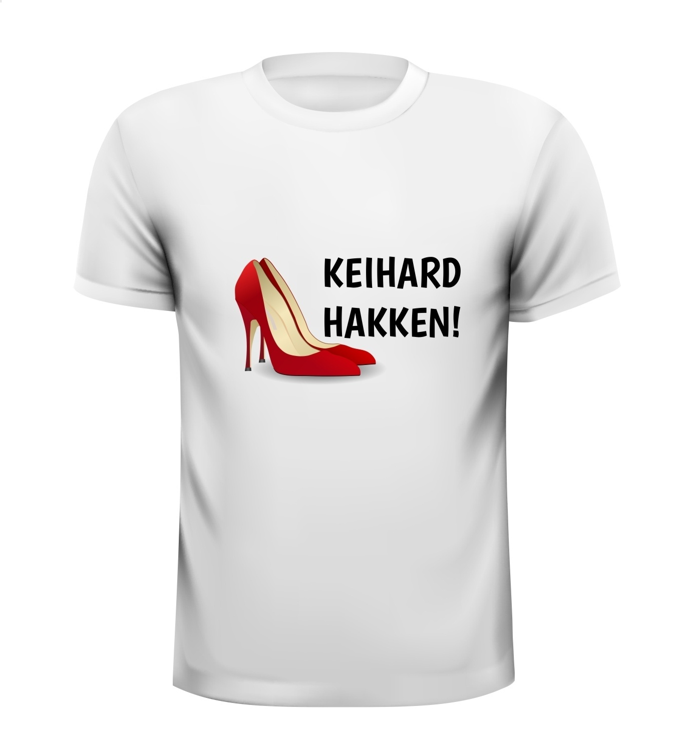 T-shirt Keihard hakken! housemuziek 90's foute party