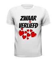 Zwaar verliefd T-shirt Valentijn, dol, smoor, verzot, weg