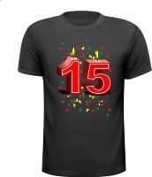 Jubileum 15 jaar T-shirt leuk voor bij de toppers