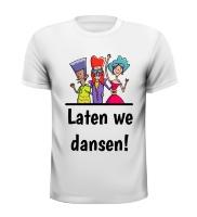 Laten we dansen feest en festival T-shirt