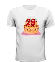 Leeftijd 28 jaar verjaardag shirt man of vrouw