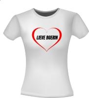 Lieve boerin T-shirt hart Moederdag boerinnen