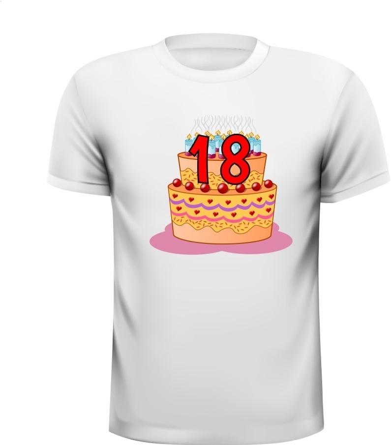 Verwonderend Shirt verjaardag leeftijd 18 jaar met afbeelding DF-27