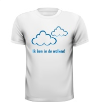T-shirt ik ben in de wolken zwanger gezinsuitbreiding