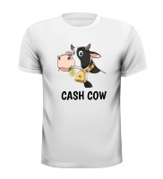 cash cow shirt grappig leuk marketing