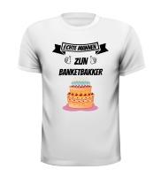 Echte mannen zijn banketbakker T-shirt taart verjaardag grappig bakker