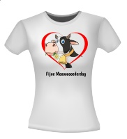 Fijne Moederdag koe T-shirt