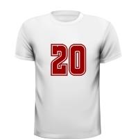 20 getal leeftijd T-shirt kado verjaardag