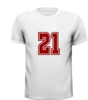 21 getal leeftijd shirt verjaardag kado