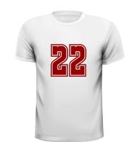 22 getal leeftijd T-shirt kado verjaardag