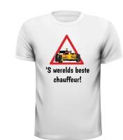 'S wereld beste chauffeur rijbewijs geslaagd shirt raceauto