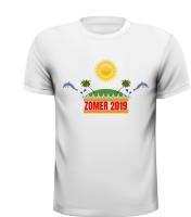 Zomer 2019 T-shirt zomers dolfijnen tropisch eiland