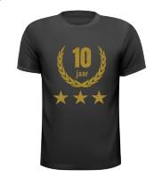 10 jaar jubileum glitter goud shirt