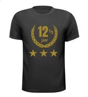 12,5 jaar jubileum glitter goud T-shirt