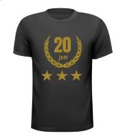 20 jaar jubileum glitter goud T-shirt