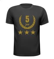 5 jaar jubileum glitter goud shirt