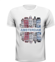 Amsterdam grachtenpanden stad design tekening