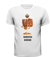 Worsten koning grappig T-shirt eten worst
