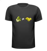 Appels met peren vergelijken T-shirt spreekwoord