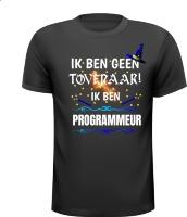 Ik ben geen tovenaar ik ben programmeur grappig humor t-shirt kado