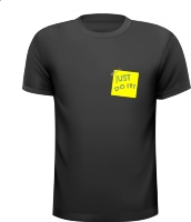 Just do it! Geel memo tekst T-shirt