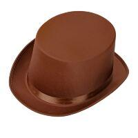 Bruine hoge hoed vintage