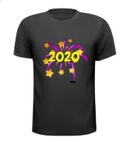 2020 vuurwerk oud en nieuw mooi fraai T-shirt
