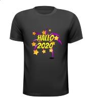 Hallo 2020 nieuwjaar T-shirt vuurwerk