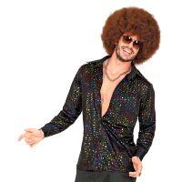 King of the dance floor disco shirt groovy stijl 70e jaren man